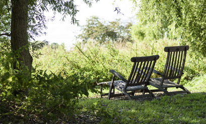 Digital Detox im Garten des NAKUK
